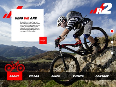 Biking site - About Page user centered design engaging interactive bike page about ux ui
