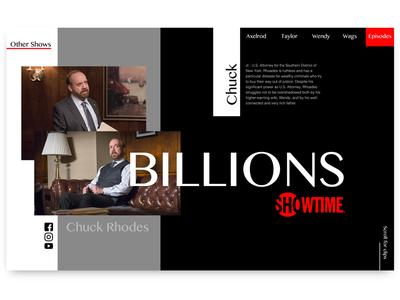 Billions - Show page concept
