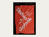 Stelvio Grotesk Posters Collection - 01/10- Italian Swiss Flag print poster design poster frotesk fonts typeface swiss design typography typedesign font posters