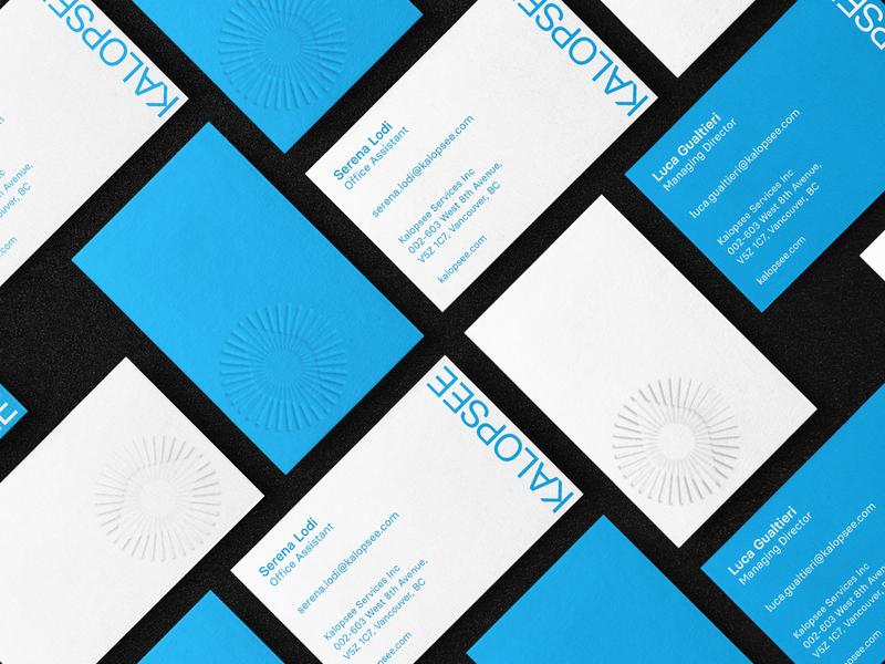 Kalopsee - Businesscard optical eye print embossing businesscard identity brand design graphic corporate image visual identiy branding logo
