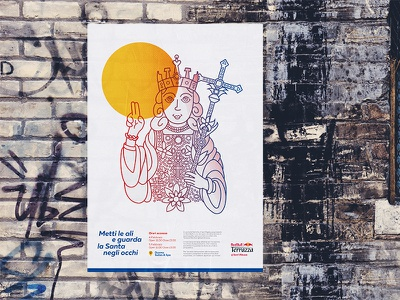 Red Bull - Festival of Saint Agatha illustration graphic event identity poster