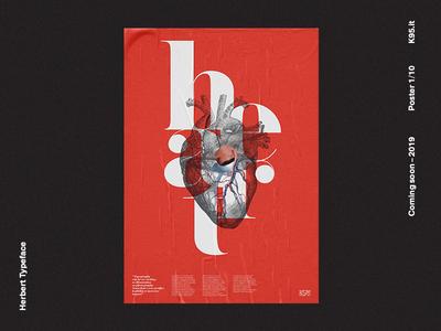 Herbert Typeface - Poster 1/10 typeface design typography poster