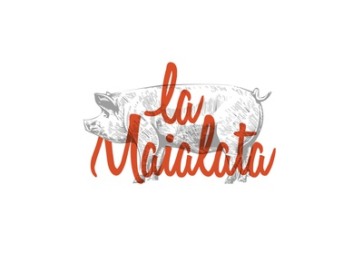 La Maialata - Branding identity visual graphic design pork logo branding