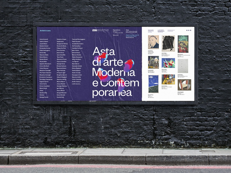 MAT - Second Modern and Contemporary Art Auction gradient color modern art poster graphic design event