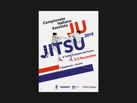 Absolute Italian Championship of JuJitsu 2019 - Poster 70x100 championship graphic event sports design sport visual identity poster sport design