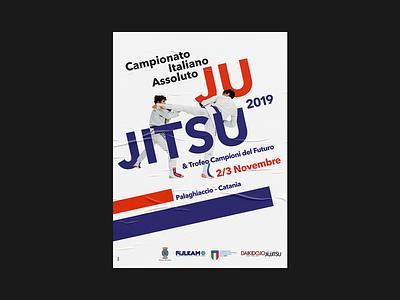 Absolute Italian Championship of JuJitsu 2019 - Poster 70x100 championship graphic event sports design sport visual identity poster sport design