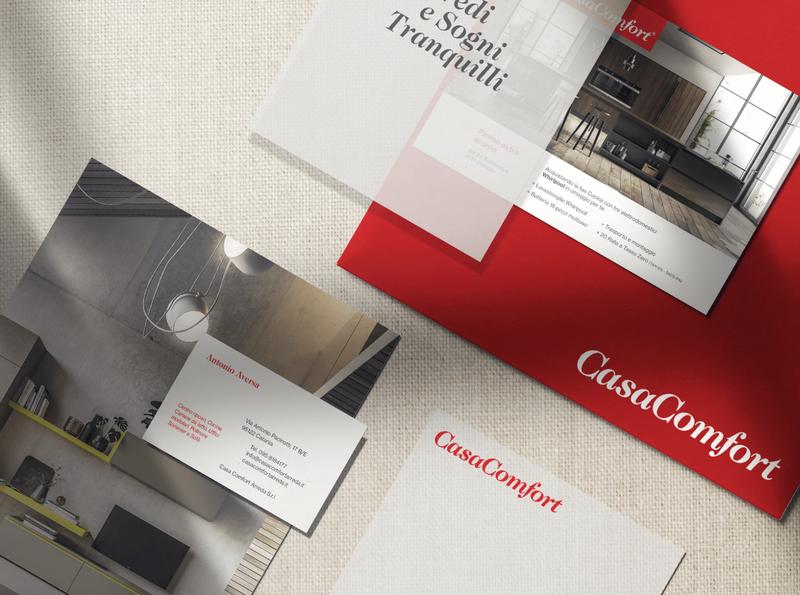 CasaComfort - Branding and visual identity swiss businesscard modern elegant visual identity brand logo design home house furniture