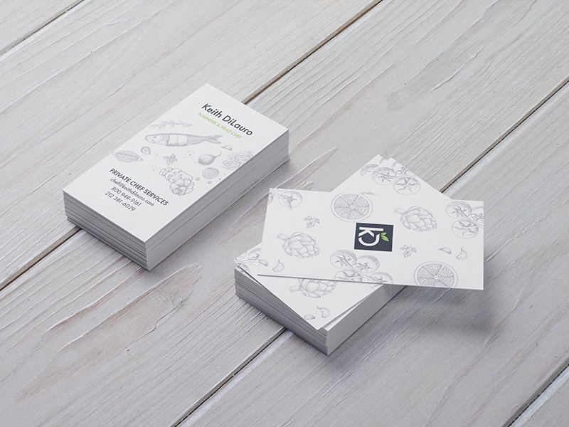 Private Chef Business Cards By Alex Dimicco Dribbble Dribbble