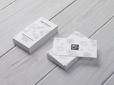 Private Chef Business Cards branding illustration