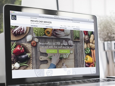 Private Chef Services Website illustration branding web design website