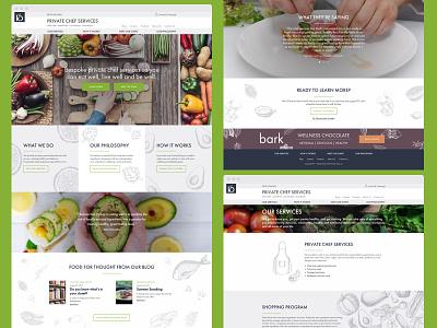 Private Chef Website Design branding food web design website
