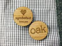 oak buttons