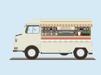 Citroen wine truck