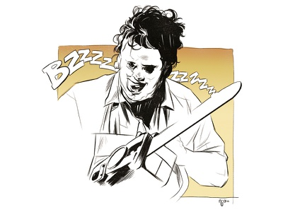 The Texas Chainsaw Massacre texas chainsaw leatherface shape line design illustration movie film horror