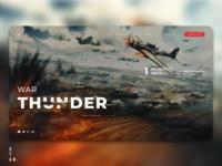 War Thunder Landing page concept