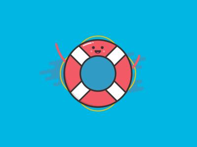 Lifesaver Character illustrator illustration character lifesaver