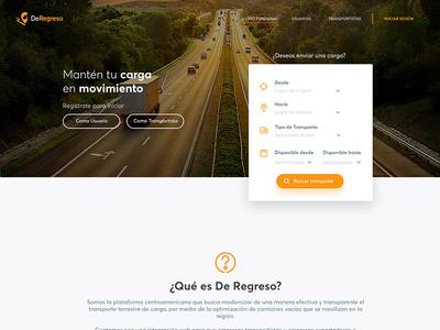 DeRegreso Landing ux ui website design web page landing