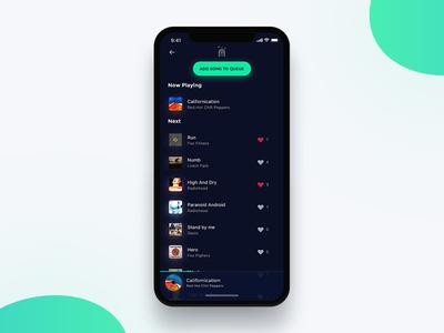 Jukebox Web App playlist music songs jukebox web ux ui iphonex mockup design app sketch