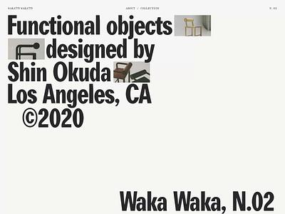 Waka Waka, Collection N°02 — 001 architecture portfolio transition california los angeles typography motion javascript animation