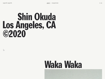 Waka Waka, Collection N°02 — 003