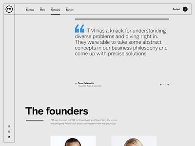 TM Website — 005 javascript animation folio portfolio motion layout quotes quote slider