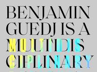 Benjamin Guedj — Bold Exploration