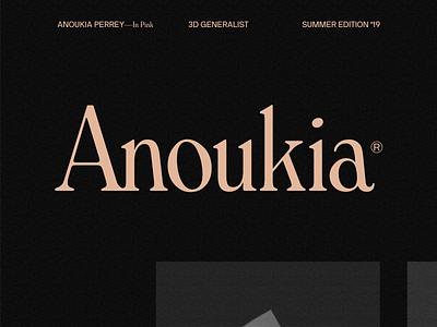 Anoukia In Pink — 004 folio deformation transition typography design javascript webgl wave motion portfolio animation