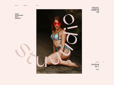 Stuuudio — 001 studio typography portfolio deformation transition webgl motion animation javascript