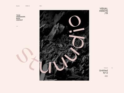 Stuuudio — 002 studio typography distortion motion deformation wave portfolio webgl animation javascript