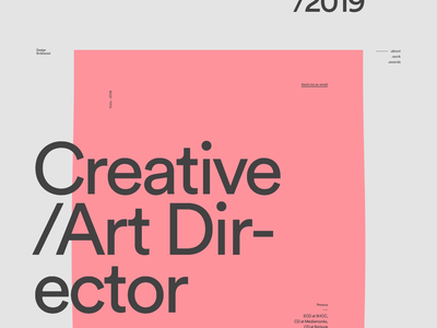 Anthony Goodwin — 002 developer pink design deformation folio portfolio wave webgl motion javascript animation