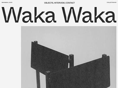 Waka Waka, Collection N°01 — 001 development developer folio typography javascript animation motion noise webgl portfolio
