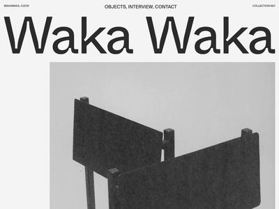 Waka Waka, Collection N°01 — 001