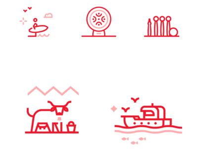 Cantabria brand corporate illustration design icon cantabria