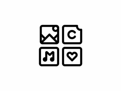 Icon design vector music mountain corporate logo icono brand icon