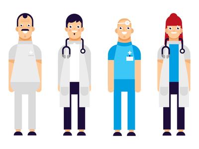Character design brand flat illustrator vector illustration medical nurse doctor health healtcare motion design character
