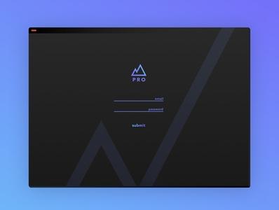 """""""Summit PRO"""" Desktop Landing Page"""