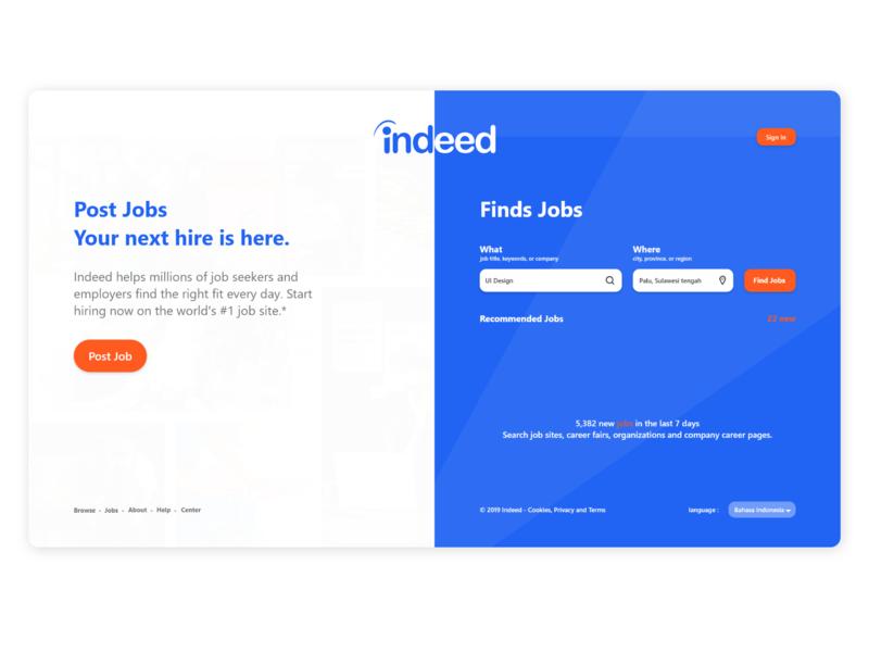 Redesign Indeed | Website | Landing Page by Mu'alif lihawa