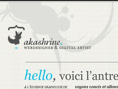 Akashrine portfolio wip webdesign