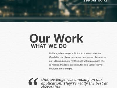 Fictional Agency webdesign