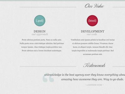 Fictional Agency V2 webdesign