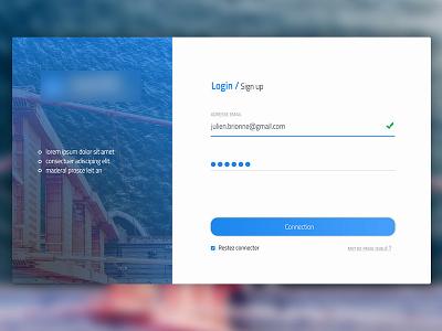 Login / SignUp login app ui