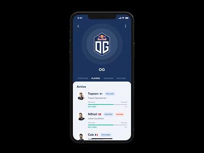 Cybersport App Concept mobile app ui app mobile ui iphone 12 pro max championship stream sport games csgo lol dota 2 application design mobile app concept cybersport iphone ux ui ios