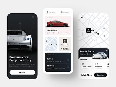 Luxury Car Rental App Concept design services userinterface interface rent rent a car rental app car app ui mobile app mobile app design design application design mobile ui iphone concept app ux ui ios