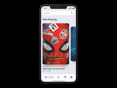 Cinema Ticket App Concept cinema ticket concept app cinema app ticket app ticket cinema app design mobile app mobile interface design app ui application design mobile ui iphone app ios concept ux ui