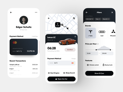 Car Rental App Concept user interface car rental app car rental rental app application concept app app design mobile app mobile app ui application design mobile ui iphone ios interface design app concept ux ui
