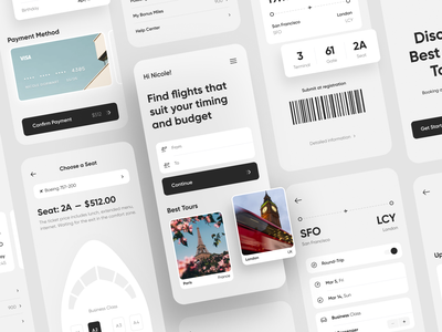 Air Ticket App Concept ticket app ticket air ticket user interface application concept app mobile app app design mobile iphone ios app ui application design mobile ui interface design app concept ux ui
