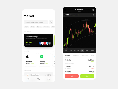 Stock Trading App Concept investments investment app investment stock market ios user interface application concept app mobile app app design mobile app ui application design mobile ui interface design app concept ux ui