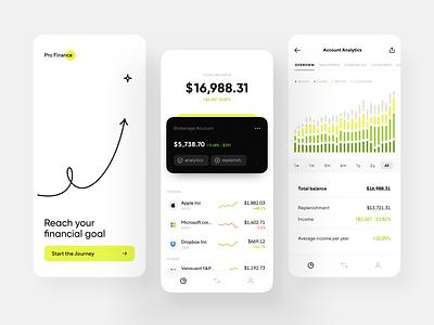 Financial App Design finances application finance financial app user interface mobile app financial concept app app ui application design mobile ui mobile app design app design ux ui concept