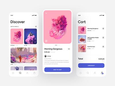 NFT App Concept mobile ui application mobile store design store concept design marketplace artwork art cryptoart nftart nft app design app interface design ux ui concept