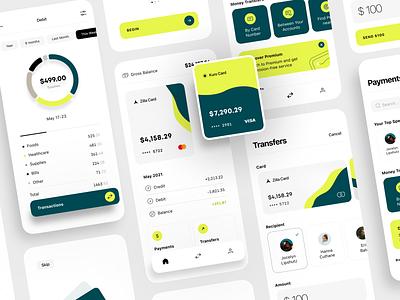 Virtual Payment Service finance app payment service virtual payment bank cards card app investment online payment financial assistant mobile design mobile banking app payment financial app finance